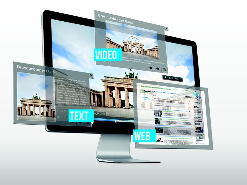 Die NLV-Technologie ermöglicht dem Nutzer, eigene Videos zu vertaggen, Freunde zu markieren und interaktive Klickflächen zu spannenden Objekten im Video zu erzeugen. Quelle: Copyright: Fraunhofer (idw)