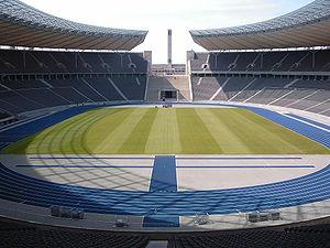 Blick in den Innenraum des Berliner Olympiastadions Bild: Sandro Schachner / de.wikipedia.org