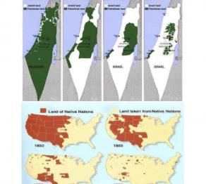 Palestina - Israel und USA - Ureinwohner Nordamerikas
