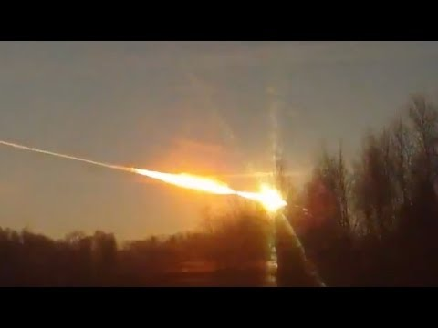 "Screenshot aus dem Youtube Video ""Meteorit schlägt in Russland ein"""