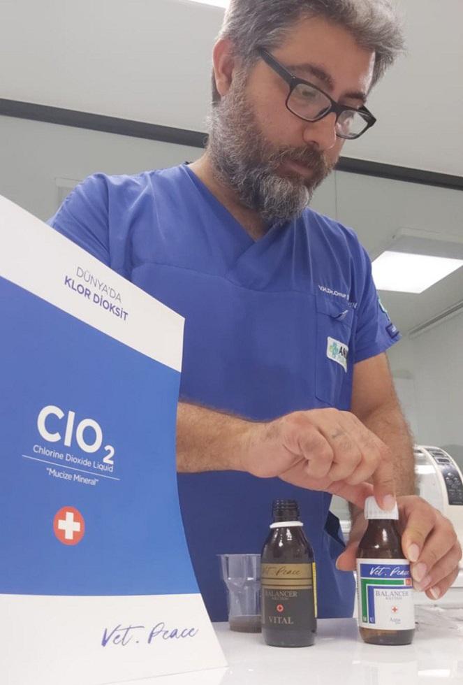 Vetirinärmediziner in der Türkei mit Chlordioxid