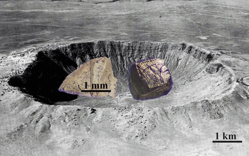 Li.: Ein im Bayerischen Geoinstitut synthetisierter Diamant; re.: ein ungefähr gleich großer Diamant Quelle: Prof. Dr. L. Dubrovinsky; zur Veröffentlichung frei. (idw)