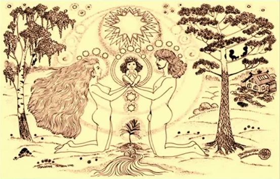 Die gemeinsame Schöpfung von Mann und Frau.  Quelle: Frank Willi Ludwig