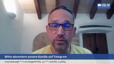 """Bild: SS Video: """"20:IV Live mit Ralf Ludwig - Wie weit ist das Zentrum für Aufklärung?"""" (https://tube.querdenken-711.de/videos/watch/d1a326e5-8f3b-41c3-ac6d-fae1d60f322199 / Eigenes Werk"""