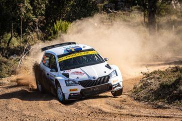 Das schwedische Privatteam Pontus Tidemand/Patrik Barth (SKODA FABIA Rally2 evo).