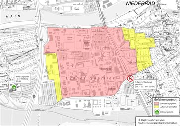 Lagekarte mit Betreuungsstelle Bild: Feuerwehr