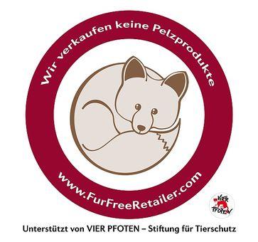 Logo Fur Free Retailer.