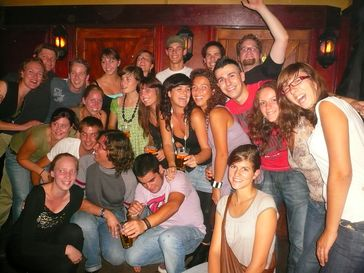 Studenten aus fünf Nationen im Rahmen des Erasmus-Programms in Groningen.