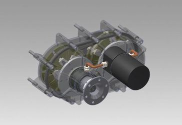 3-D image of the Controlled Rotation System. Bild: Parts Services Holland Ltd