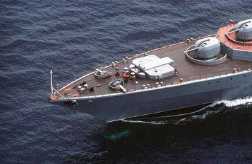 Bug der Udaloy mit SA-N-9-Gauntlet-Luftabwehrsystem