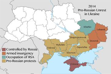 Der Krieg in der Ostukraine (auch Krieg im Donbass) ist ein bewaffneter Konflikt in den östlichen Gebieten der Ukraine.
