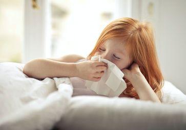 Mädchen krank