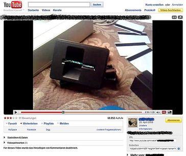 Screenshot eines YouTube Videos zum Equipment Verkauf