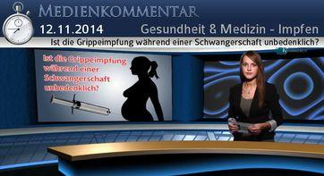 """Bild: SS Video: """" Ist die Grippeimpfung während einer Schwangerschaft unbedenklich?"""" (www.kla.tv/4577) / Eigenes Werk"""