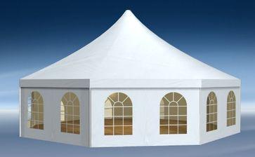 Achteckzelt für Hochzeiten, Feiern und mehr. Bild: RÖDER Zeltsysteme und Service AG