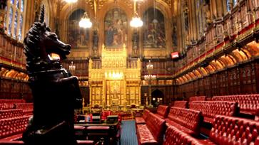 Britischen Oberhaus: House of Lords Chamber