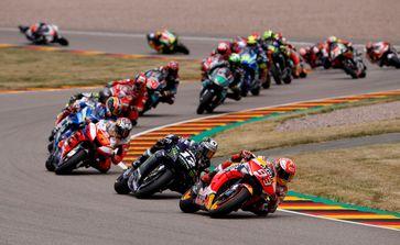 Der zehnfache Sachsenring-Sieger Marc Marquez (#93) ist der Gejagte in der MotoGP Bild: ADAC Fotograf: ADAC