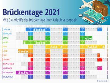 BILD zu OTS - Brückentage 2021 Deutschland und Österreich