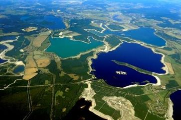 Ausschnitt der Lausitzer Seenkette