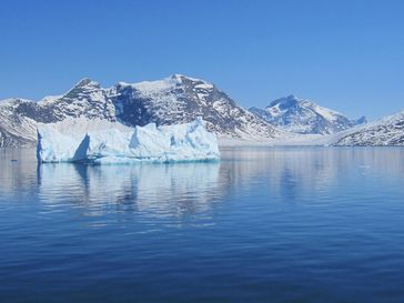 Eisberge im Südwesten Grönlands. Quelle: Foto: Thomas Juul-Pedersen, GINR (idw)