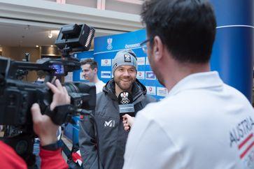 Markus Schairer bei der Einkleidung des österreichischen Teams für die Olympischen Winterspiele 2018