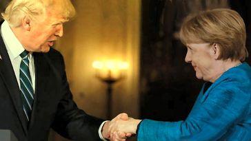 Angela Merkel und Donald Trump (2017) (Symbolbild)
