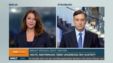 """Europaabgeordneter David McAllister auf Nachrichtensender WELT: """"Ich sehe wirklich nicht, was die Europäische Union noch tun kann"""" / Bild: """"obs/WELT/WeltN24 GmbH"""""""