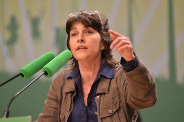 Barbara Steffens bei der Landesdelegiertenkonferenz der Grünen NRW in Essen, März 2012