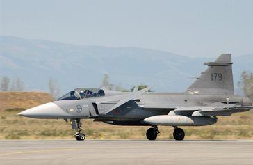 """Schwedische JAS 39 """"Gripen"""" 2003 in Bulgarien"""