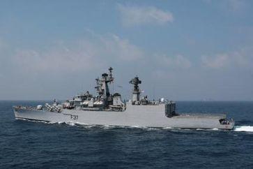 """Archivfoto: Die indische Fregatte """"Beas"""". Foto: Ricarda Schönbrodt, Deutsche Marine"""