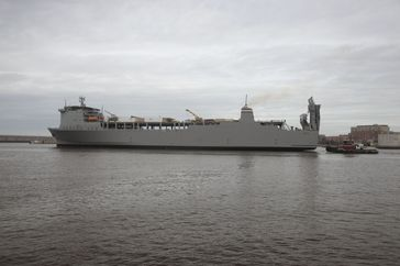 The highest-priority chemicals will be destroyed on the 648-foot MV Cape Ray.[51]
