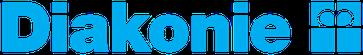 Logo des Diakonischen Werkes: Schriftzug mit rechts daneben stehendem Kronenkreuz