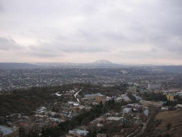 Pjatigorsk: Blick auf die Stadt von der Maschuk-Spitze