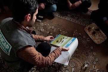 Aufklärung über die Gefahren explosiver Kriegsreste in Dohuk. Bild: Sarah Pierre/Handicap International