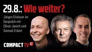 Oliver Janich, Jürgen Elsäßer und Samuel Eckert (2020)