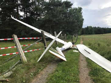 Segelflugzeug notgelandet