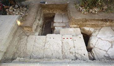 Südliches Fundament des Tempels Quelle: Archäologisches Seminar der Martin-Luther Universität Halle (idw)