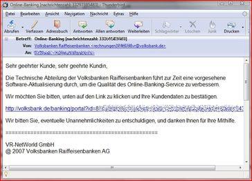 Screenshot der Mail