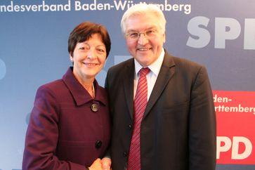 Elvira Drobinski-Weiß mit Frank-Walter Steinmeier, 2009