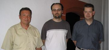 Die drei aktivsten Forscher auf dem Gebiet der Kryptozoologie in Deutschland: v. l. n.r. Hans-Jörg Vogel, Markus Hemmler und Michael Schneider