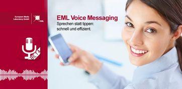 Die EML Voice Messaging App für Android-Smartphones gibt es kostenlos im Google Play Store. Quelle: Bild: EML (idw)