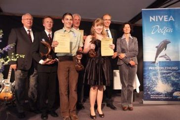 Die Preisträger des NIVEA Delfin 2009 (c) DLRG
