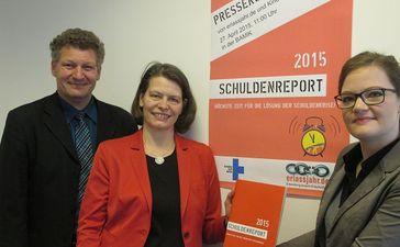 Frank Mischo, Dr. Kathrin Berensmann, Kristina Rehbein. Foto: Angelika Böhling/Kindernothilfe