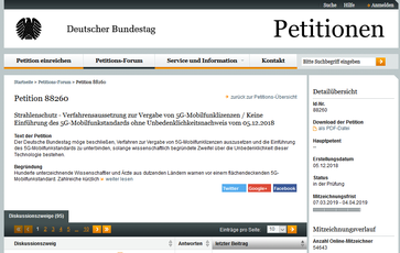 Bild: Screenshot der Petition 88260