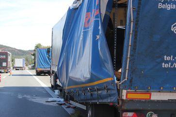 LKW Unfall Bild: Polizei