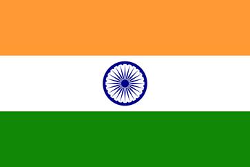 Flagge von Indien