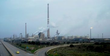 Ölraffinerie in Homs