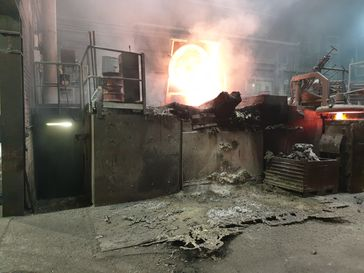 Übergelaufener Ofen Bild: Feuerwehr