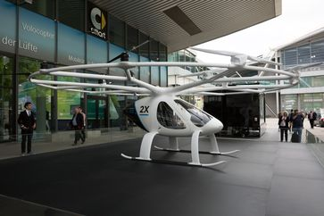 Flugtaxis: Volocopter 2X auf der IAA (2017)