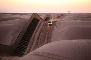 Spezial-Grenzzaun zwischen der USA und Mexiko
